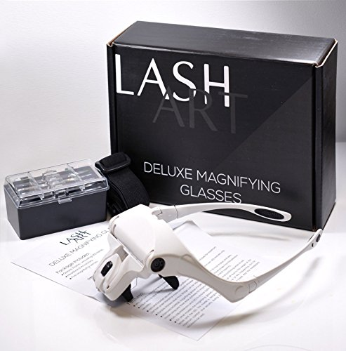 - LashArt Deluxe Magnifier Hands Free Magnifying Glass Ce Mark Eyelash Extension