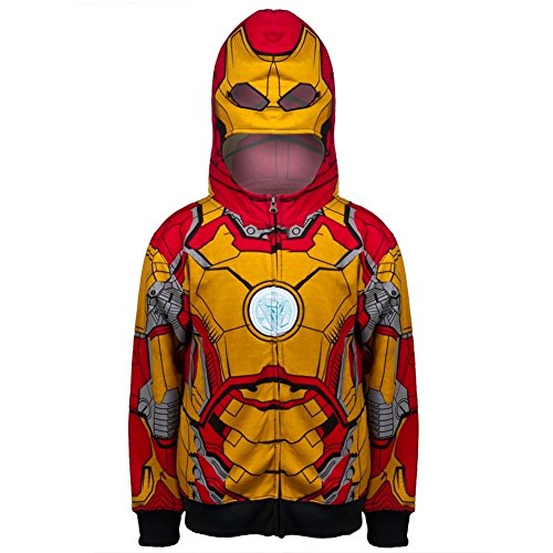 Iron Man - Open 42-M Costume Youth Zip Hoodie - Youth (Iron Man Couples Costume)