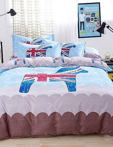 ZQ Fashion personality style Baolisi Bedding Sets 4pcs Queen Size Girls Korean Love Bed by Bedding ZQ