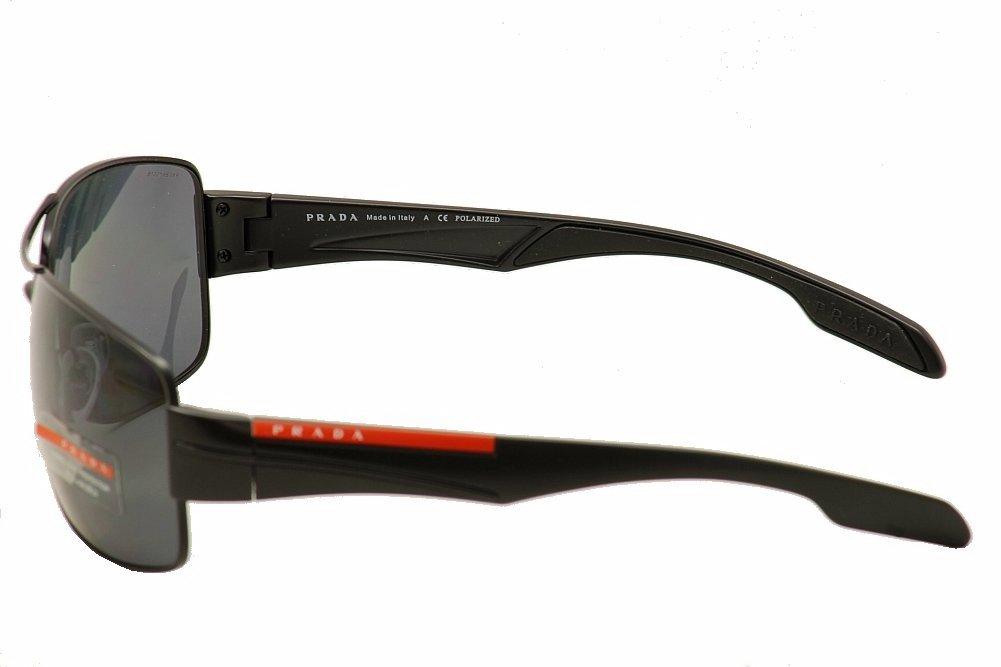 276b1d6547b1 Amazon.com  Prada Sport Sunglasses - PS53NS   Frame  Demi Shiny Black Lens   Gray Polarized  Prada Sport  Sports   Outdoors