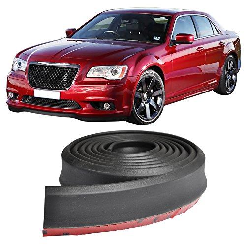 Front Bumper Lip Fits Universal Vehicles | Black Spoiler Lip Splitter Valance Fascia Cover Guard Protection Conversion by IKON MOTORSPORTS