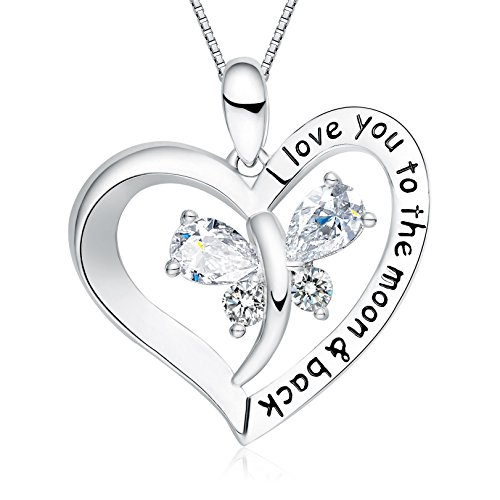 "Mommy Jewelry (Holiday Deals Week - FANCYCD ""I Love You to the Moon and Back"" Love Heart Necklace, Jewelry for Women & Girls, Gifts for Girlfriend, Wife, Sister, Grandma, Mom)"