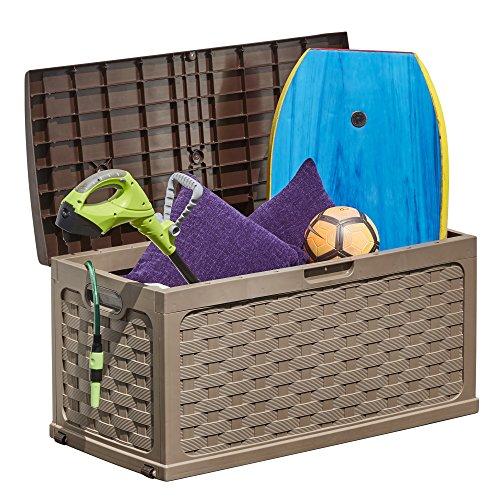 Plastic Garden Storage Box Chest Container,...