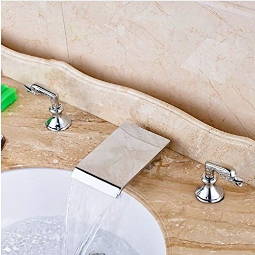 Gowe Deck Mount Double Handles Bath 8