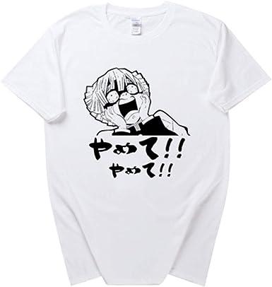 DSAQAO - Camiseta de manga corta con cuello redondo de algodón y cuello redondo, diseño de cazador de demonios Kimetsu no Yaiba B 3XL: Amazon.es: Ropa y accesorios