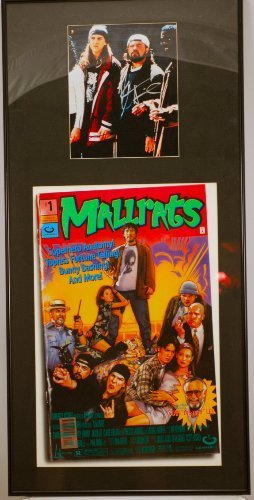 Kevin Smith & Jason Mewes In Person Autographed 8x10 Photo - Custom Framed With Mallrats Poster - 17 x 36 Inches - 1 of a Kind - Lifetime Guarantee of Authenticity - Rare - Very Collectible