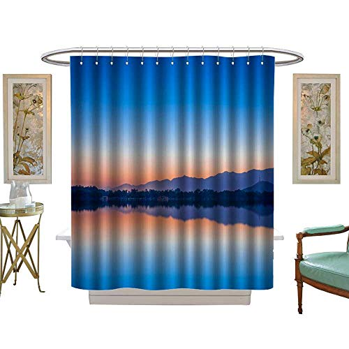 luvoluxhome Shower Curtain Collection by Quiet, The Summer Palace Kunming Lake Patterned Shower Curtain W72 x L96