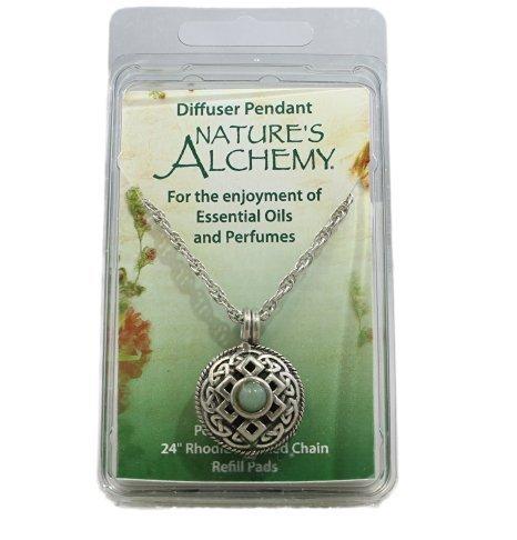 Nature's Alchemy Celtic Green Jewel Tone Amazonite An (Pewter Pendant Stone)