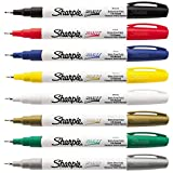 Sharpie Oil-Based Paint Markers, Extra Fine Point, Assorted Ink, 8/Pack
