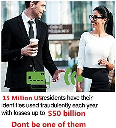 OBO HANDS Wasserdichte Business ID Kreditkarteninhaber Geldbörse Tasche Fall Aluminium Metall RFID Scan Karte (Gelb)