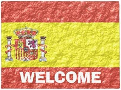 Jen000will Felpudo Personalizado con diseño de Bandera de España Diatom para pies de Barro de 16 x 24 Pulgadas: Amazon.es: Hogar