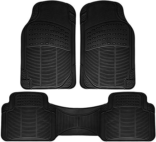 Motorup America Auto Floor Mats All Season Rubber - Fits Select Vehicles Car Truck Van SUV, ()