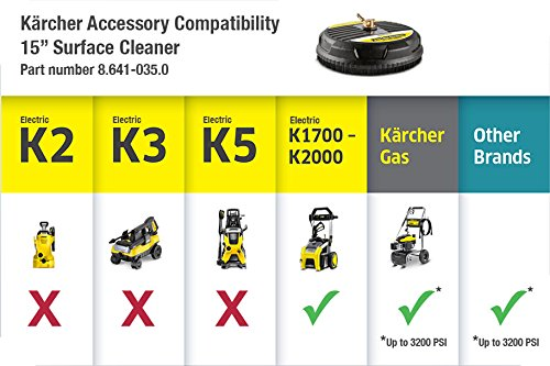 Karcher 15-Inch Pressure Washer Surface Cleaner Attachment, 3200 PSI Rating by Karcher (Image #6)