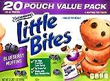 || Entenmann's | Little Bites | Blueberry Muffins | 2 LBS 1 OZ | 936g | 20 Pouches 80 Muffins |Delicious | Yummy |Tasty | 1 Box ||