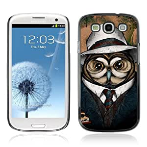 Designer Depo Hard Protection Case for Samsung Galaxy S3 / Cool Owl Detective