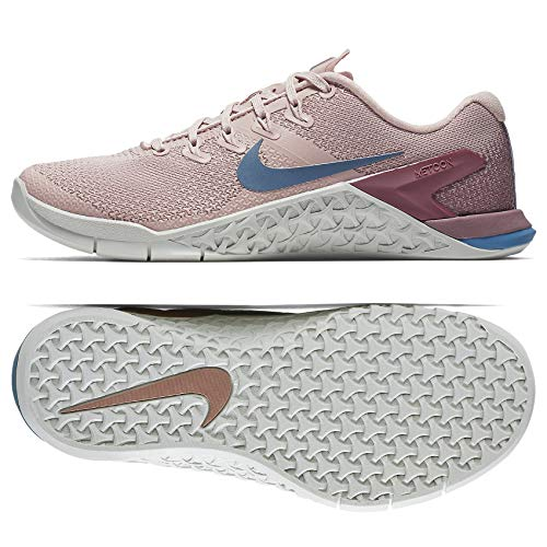 Nike Women's Metcon 4 Particle Beige/Celestial Teal Ankle-High Cross Trainer Shoe – 7M