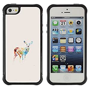 Suave TPU GEL Carcasa Funda Silicona Blando Estuche Caso de protección (para) Apple Iphone 5 / 5S / CECELL Phone case / / Colors Pastel Drawing Animal /