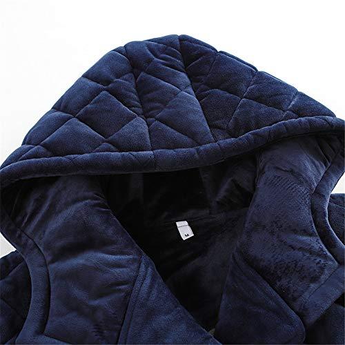 Con Sección De Mmllse Gruesa Women Capas Tres Parejas Larga Invierno Pijamas Acolchadas Mujeres nbsp;las Visten Una Hombres Y Capucha Cálido S7pBnSvq