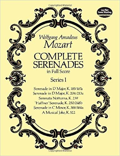 Book Complete Serenades in Full Score, Series I (Dover Music Scores) by Wolfgang Amadeus Mozart (2012-06-13)