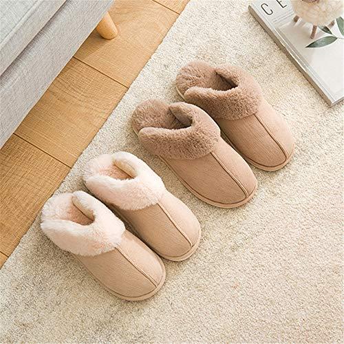 donna casa Ciabatte da invernali uomo B pantofole per in e peluche YMFIE in cotone dgT8qq