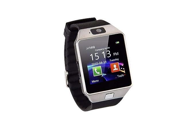 SmartWatch DZ09 con reloj, teléfono móvil, Bluetooth, espacio para tarjeta SIM y microSD