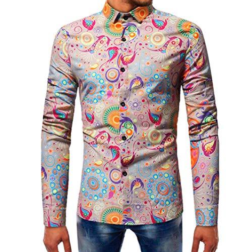 Hommes Slim Longues Paolian Manches Chemise Kaki Mode Pour Automne Homme Graffiti À Hiver 5wpwqa0T