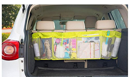 43' Seat (1-Auto Car Seat Back Storage Mesh Bag Car Trunk Organizer Auto Folding Luggage Bag Zakka Bags Vehicle Accessories Car Styling (Green))
