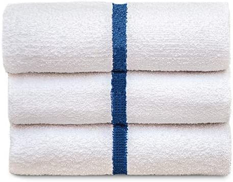 6 new white polly//cotton hotel bath towels 24x50