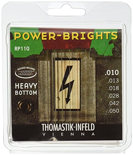 10 Electric Guitar Strings: Power-Brights 6 String Heavy Bottom Set Set E, B, G, D, A, E ()