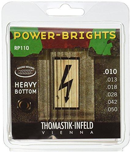 Thomastik-Infeld RP110 Electric Guitar Strings: Power-Brights 6 String Heavy Bottom Set Set E, B, G, D, A, E by Thomastik-Infeld