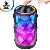 Night Light Bluetooth Speaker,Tiamat Galaxy Beats LED Bluetooth Speaker,7 Color Control Touch Flow Bar,Diamond Design Billing Billing Portable Wireless Bluetooth Speaker,Handsfree/Phone/PC/MicroSD/AUX
