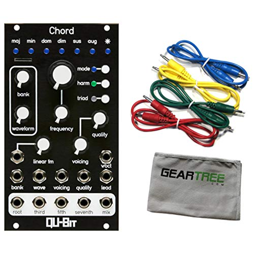Qu-Bit Chord v2 Polyphonic Oscillator Eurorack Synth Module w/Cloth and 4 Cable