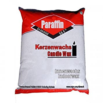 5 kg reines Paraffin 100 % Kerzenwachs geruchlos Weiß Schmelzpunkt ...