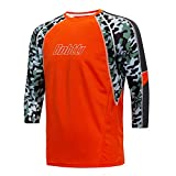 bpbtti Men's MTB BMX Mountain Bike Shirt 3/4 Sleeve Cycling Jersey