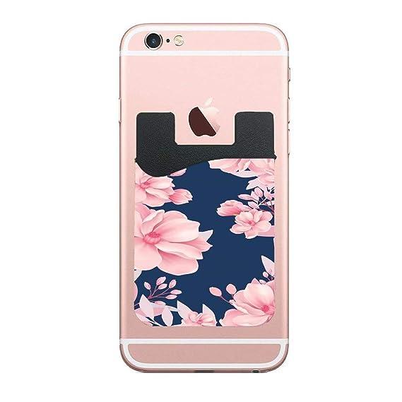 Amazoncom Basteln Pink Blue Flowers Credit Card Holder