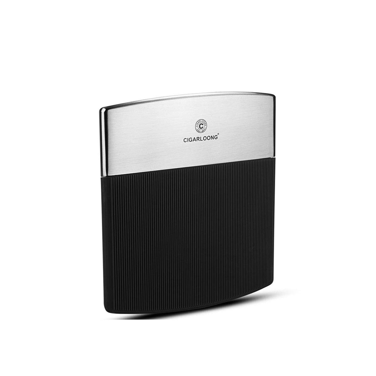 ZHONGYUE Cigarette Case, Stainless Steel Cigarette Case, Portable Portable Fashion Cigarette Case, 10 Capacities Unique Design, Sturdy and Lightweight. (Color : Black)