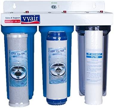 3 Stage HMA High Flow Water Filter KOI Pond Dechlorinator Chlorine Removal
