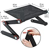 Wonder Worker Newton Ergonomic Folding Laptop Table Desk Bed Tray Cooling Pad - Black