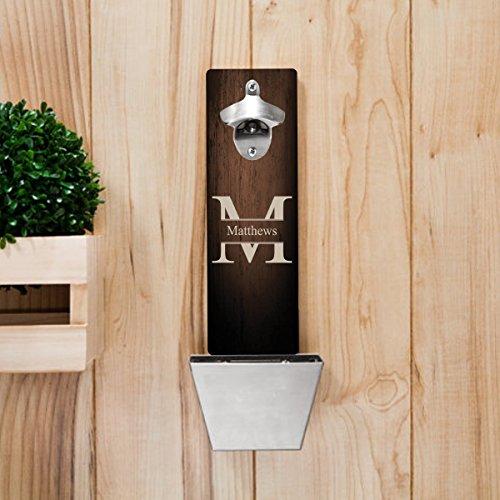Monogrammed Wall Mounted Bottle Opener