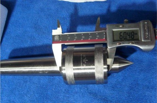 Atoplee 1pc MT2 Live Center Morse Taper Triple Bearing 2 Mt .0002'' for High Speed Turning, CNC Work by ATOPLEE (Image #2)