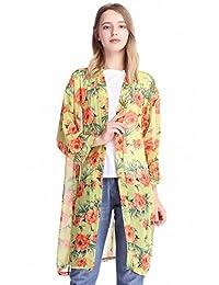 MissShorthair Women Beach Cover Ups Chiffon Kimono Cardigan
