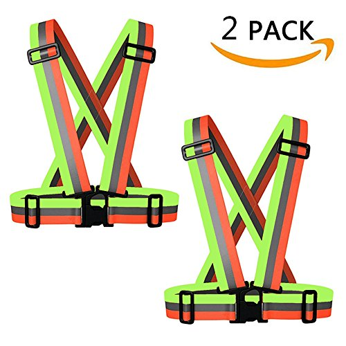 IMPORX Reflective Vest Running Reflector Gear - Safety High Visibility Adjustable and Elastic Safety Reflector Vest for Running, Walking, Motorcycle (2 Pack & Colorful)
