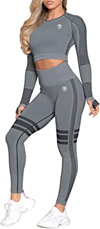 Wild Horse Global Women Activewear Long Sleeve Seamless Leggings Yoga Set Sportswear Tracksuits