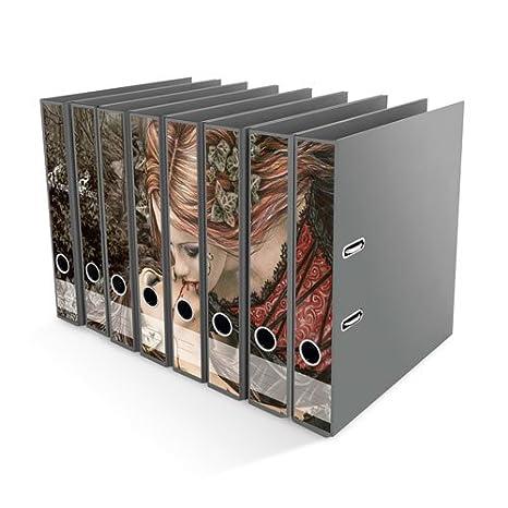 Archivadores pegatinas Victoria Francés - kiss - tamaño 49,2 x 30 cm, compatible con 8 archivadores: Amazon.es: Juguetes y juegos