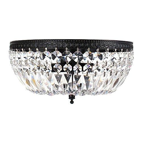- Jessica 3-light Crystal Basket Flush Mount Chandelier