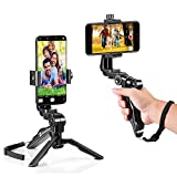Zeadio Ergonomic Swivel Smartphone Handheld Grip Stabilizer Tripod Selfie Stick Handle Steadycam Kits, Fits for iPhone Samsung Huawei Sony LG Nexus Nokia and All Phones