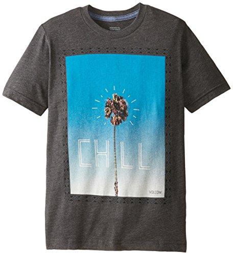 Volcom Big Boys' Chill Short Sleeve T-Shirt, Heather Black, Small