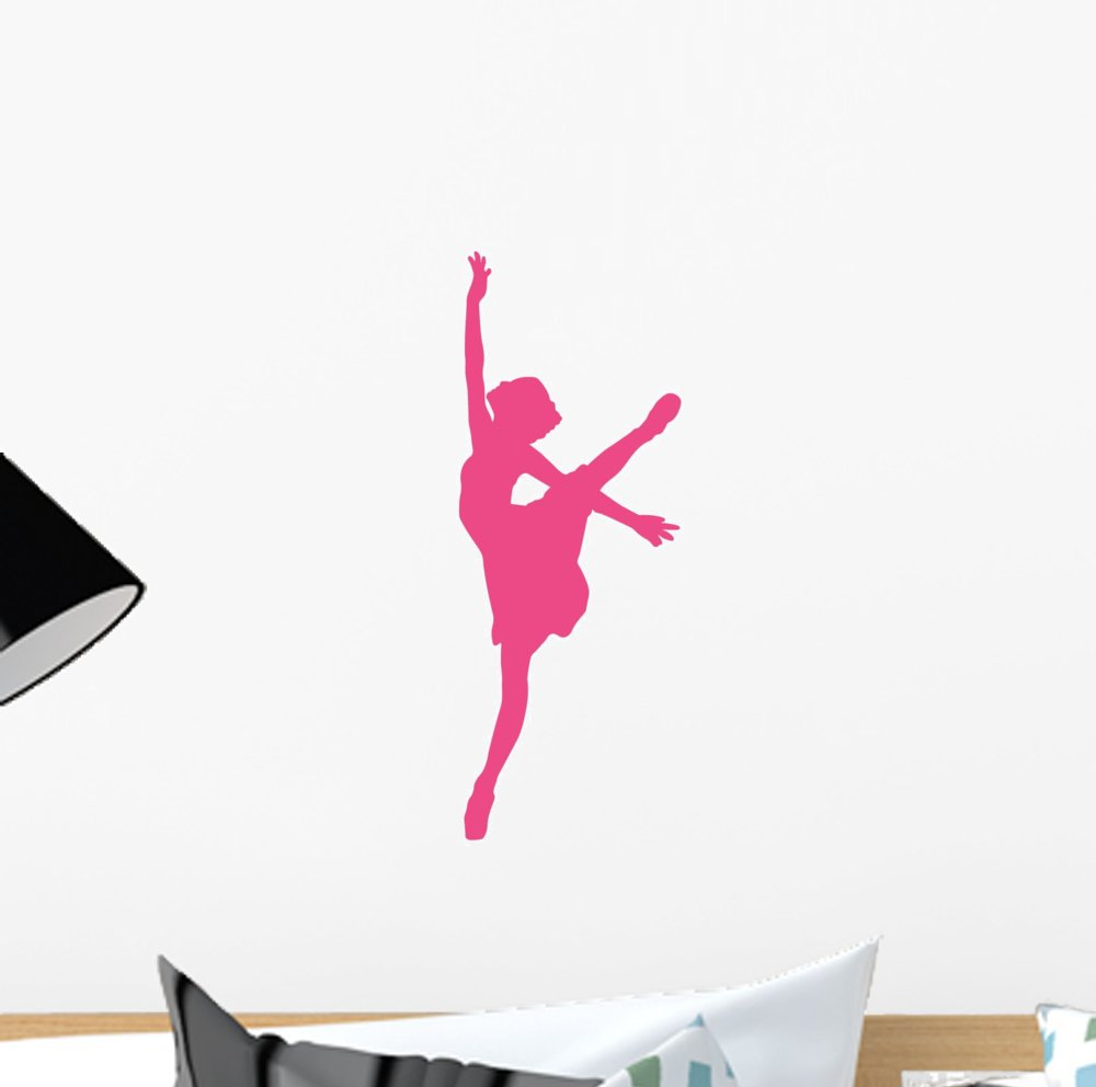 Amazon ballet silhouette hot pink wall decal by wallmonkeys amazon ballet silhouette hot pink wall decal by wallmonkeys peel and stick graphic 12 in h x 5 in w wm357829 home kitchen amipublicfo Gallery