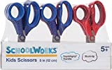 Schoolworks 153520-1004 Blunt Kids Scissors Classpack of 12, 5 Inch