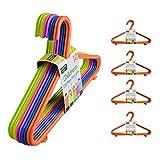 50 or 100 Kids Hangers Clothes Coat Multi Coloured Children Plastic Child Baby (50 Hangers)